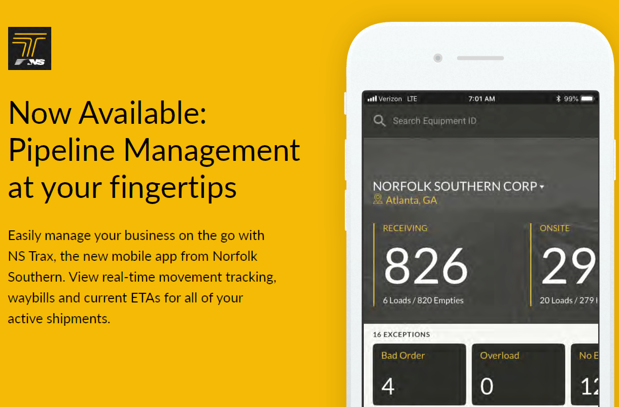 NS Trax - Pipeline Management at your fingertips.
