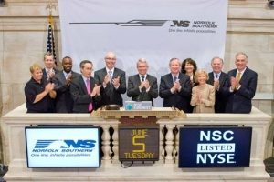 NS employees at New York Stock Exchange